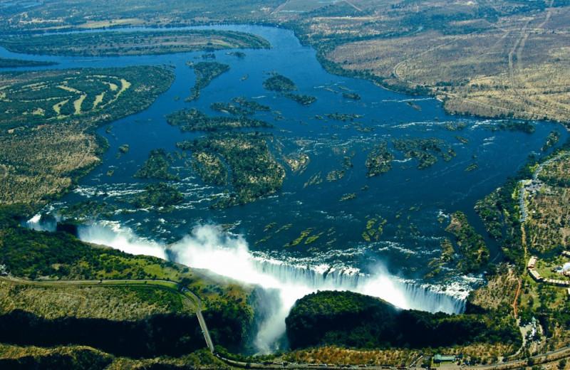 Victoria Falls near The Victoria Falls Hotel.
