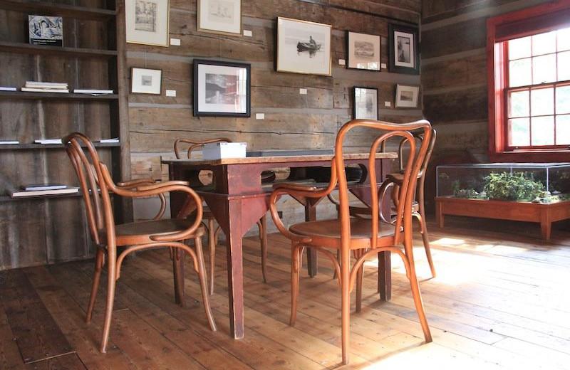 Cabin dining room at Bartlett Lodge.