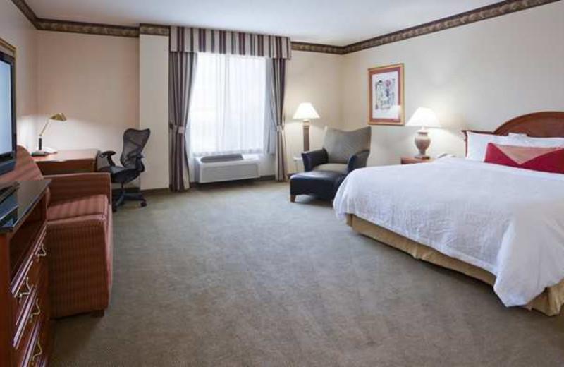Guest room at Hilton Garden Inn Bloomington.
