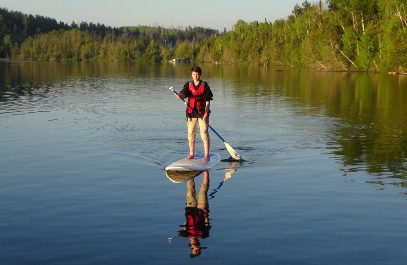 Paddle board at Loon Lake Lodge.