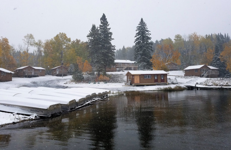 Winter at Cliff Lake Resorts.