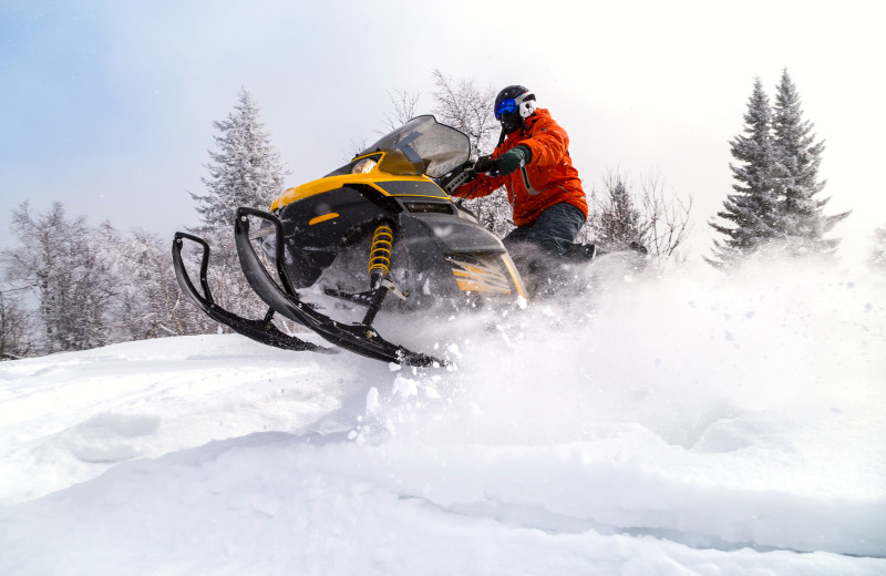 Snowmobiling at Timber Trail Lodge & Resort.