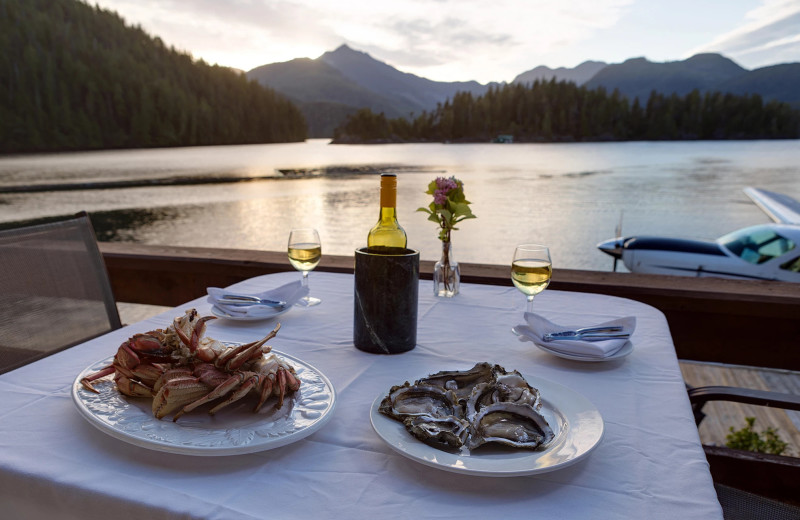 Dining at Nootka Wilderness Lodge.