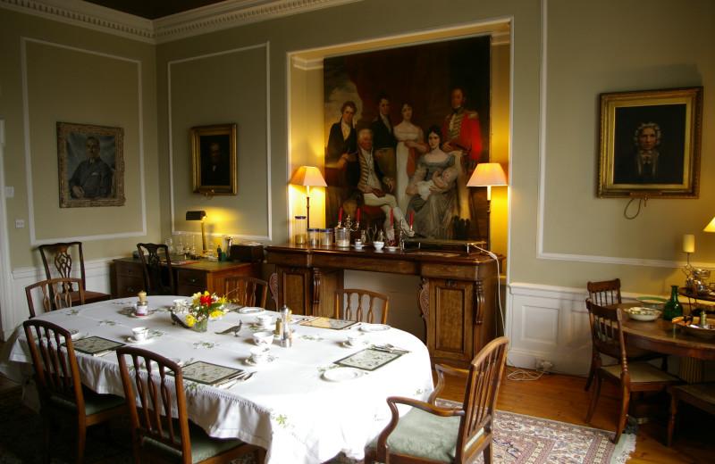 Dining room at Highfield House B&B.