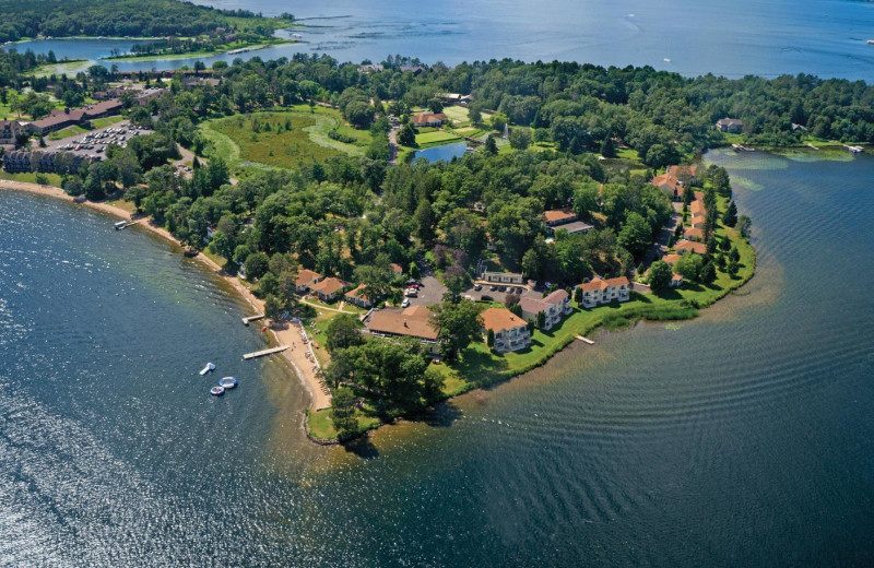 Aerial view of Madden's on Gull Lake.