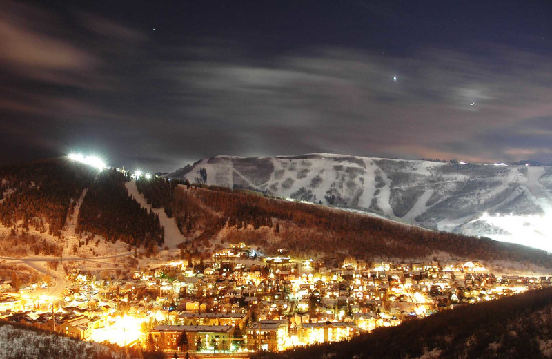 Aerial view of area at Park City Rental Properties.