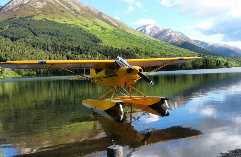 Float plane at Summit Lake Lodge.