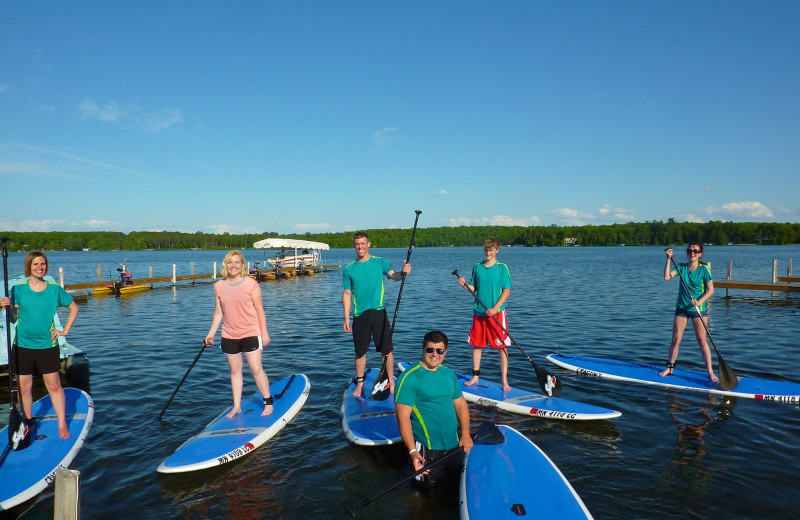 Paddle board at Cragun's Resort and Hotel on Gull Lake.