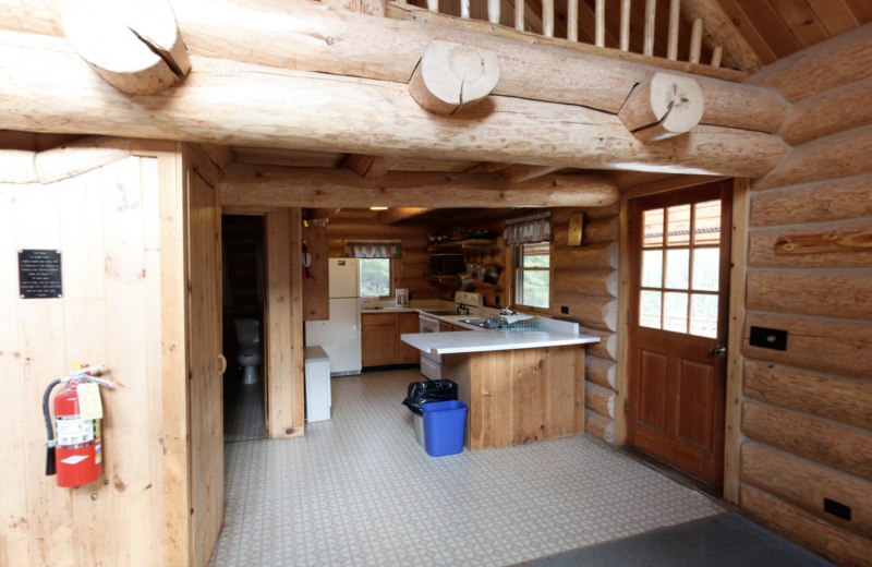Cabin kitchen at YMCA Camp Du Nord.