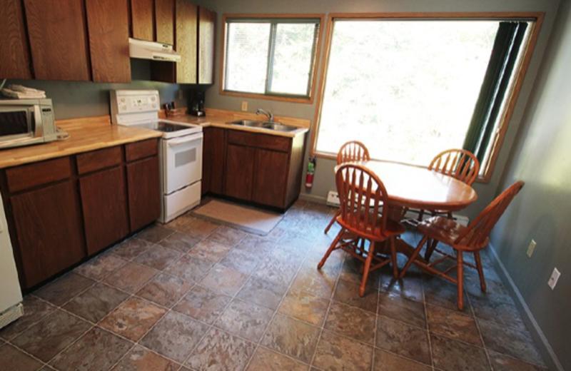 Park view suite kitchen at The Shorewater Resort.