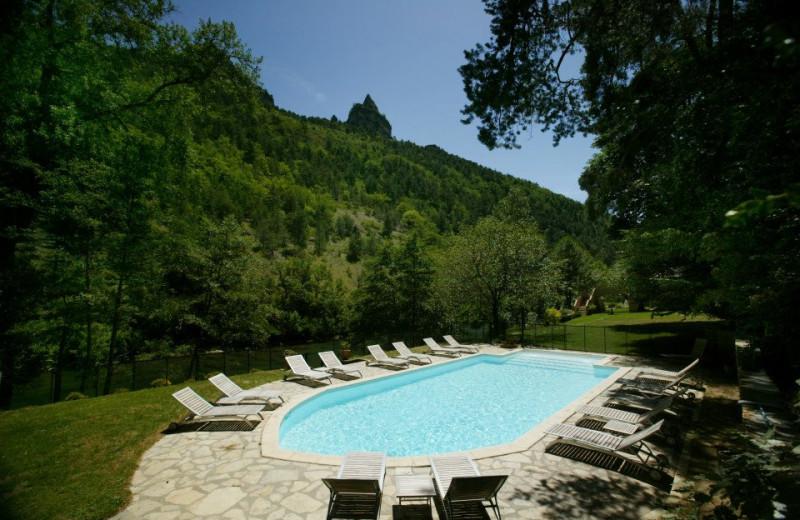 Outdoor pool at Hôtel de la Muse et du Rozier.