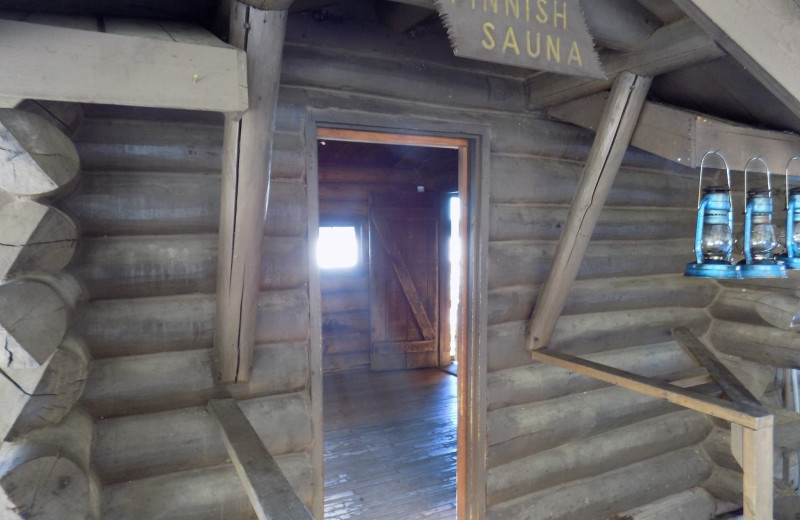 Sauna at YMCA Camp Du Nord.