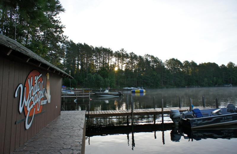 Docks at White Eagle Resort.