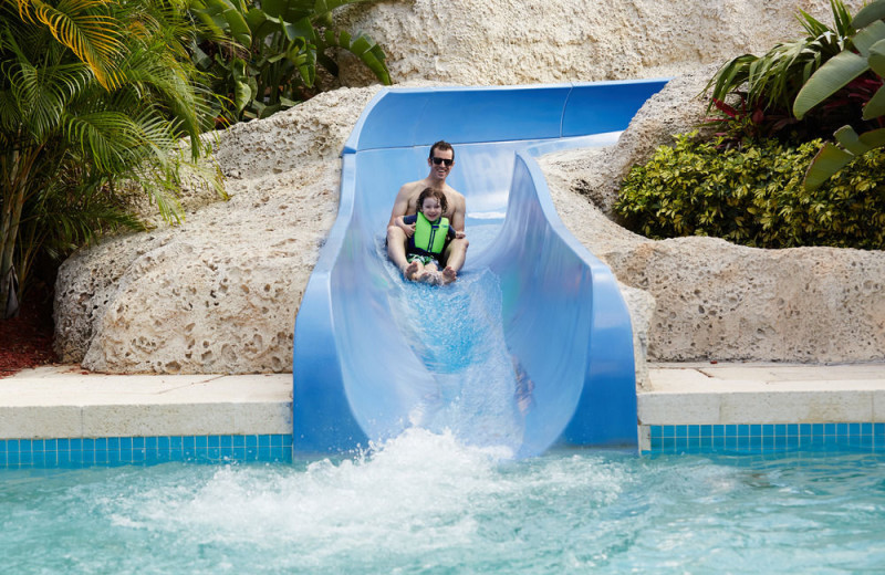 Water slide at Trump National Doral Miami.