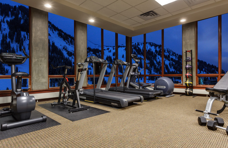 Fitness room at Alta's Rustler Lodge.