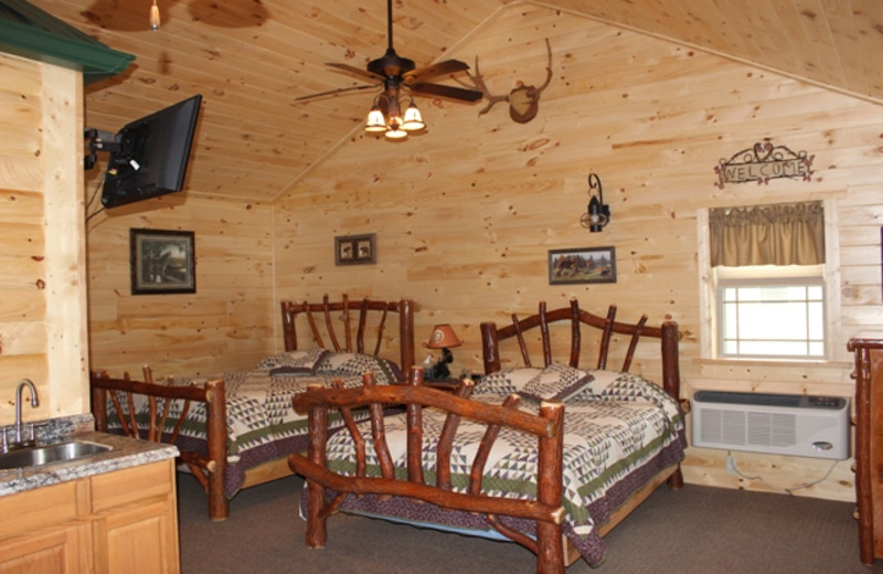 Cabin interior at 7C's Lodging.