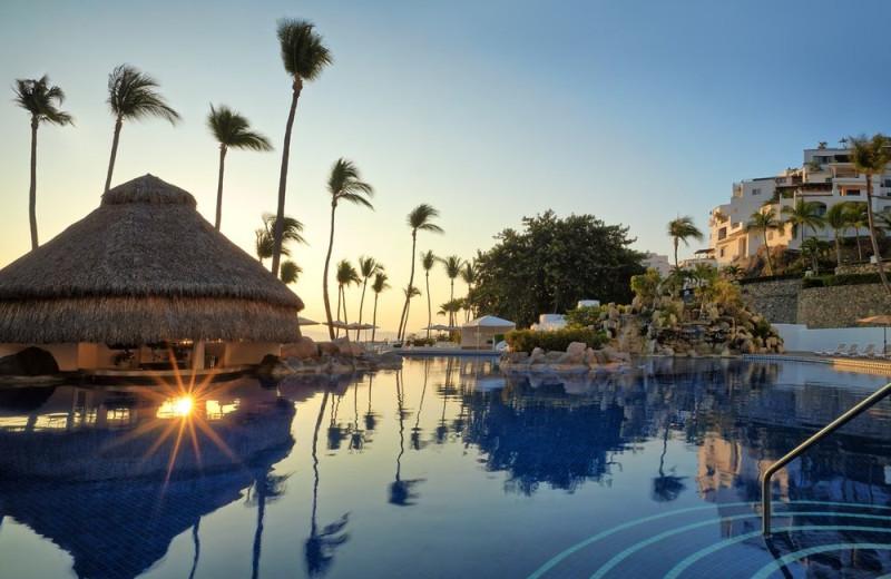 Outdoor pool at Las Hadas Golf Resort and Marina.