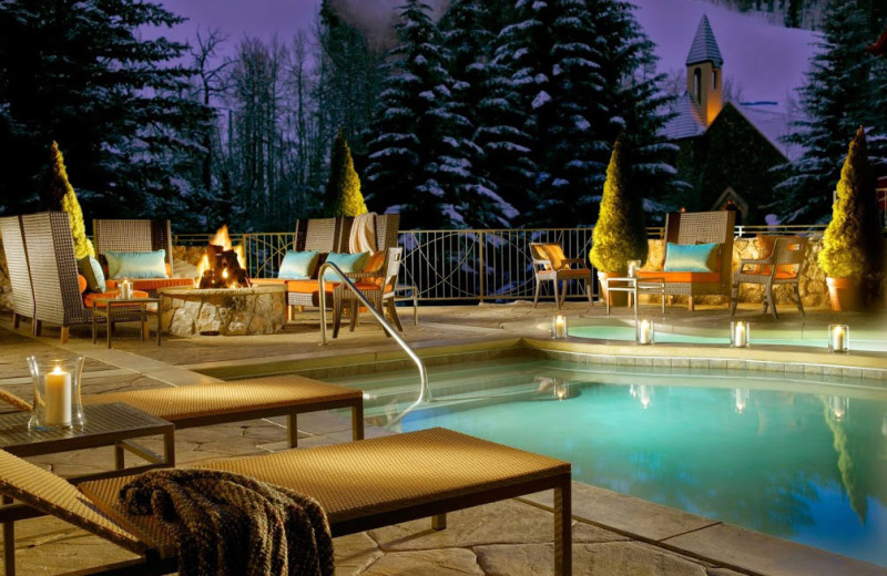 Outdoor pool at The Osprey at Beaver Creek, A Rock Resort.