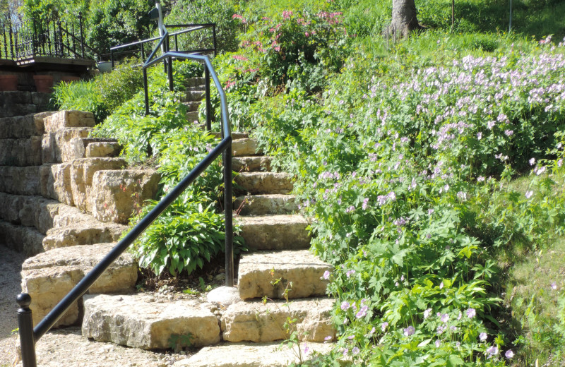 Garden stairs at Abe's Spring Street Guest House.