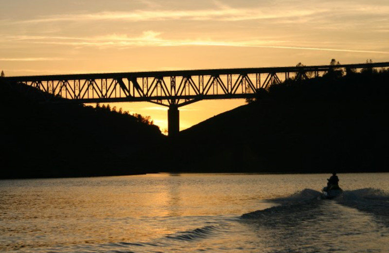 Sunrise at Lake Oroville.