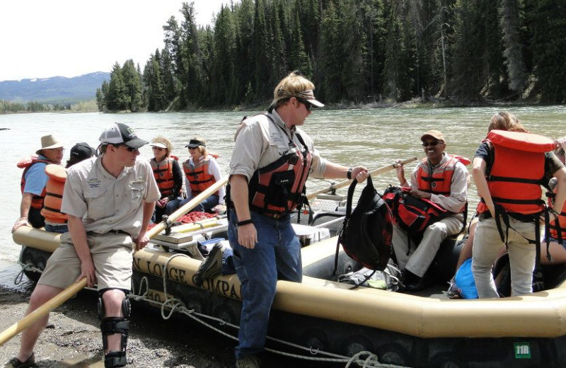 Group rafting at Jackson Lake Lodge.