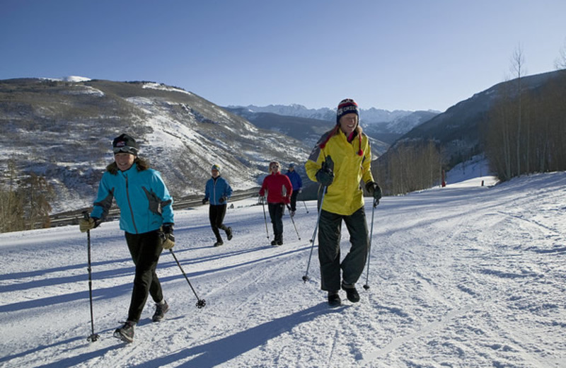 Cross country skiing at Vail Mountain Lodge & Spa.