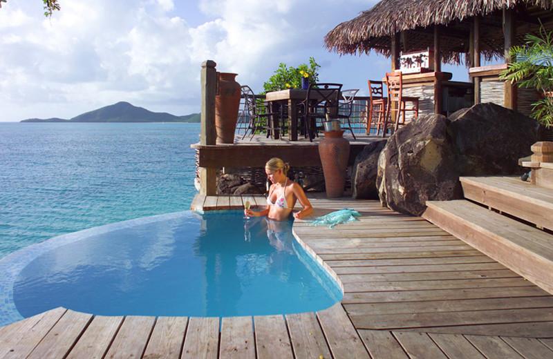 Private pool at Cocobay Resort.