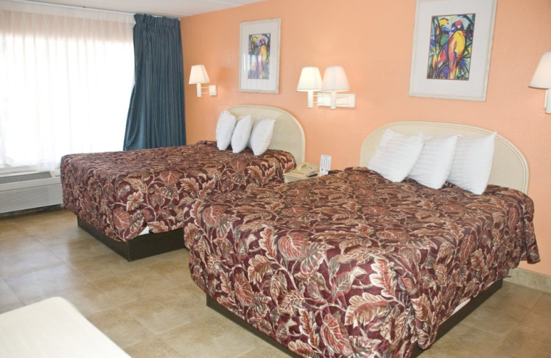 Guest room at WindWater Hotel & Resort.