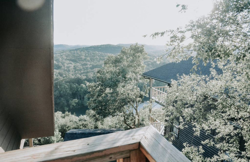 Cabin view at Arkansas White River Cabins.