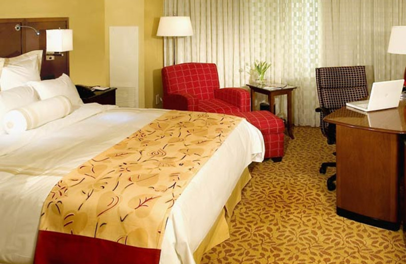 Guest room at Wyndham Bay Point Resort.