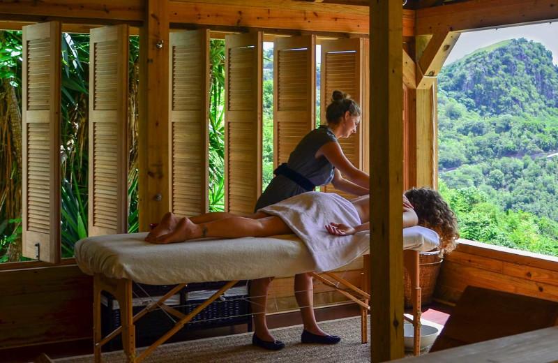 Back massage at Queen's Garden Resort.