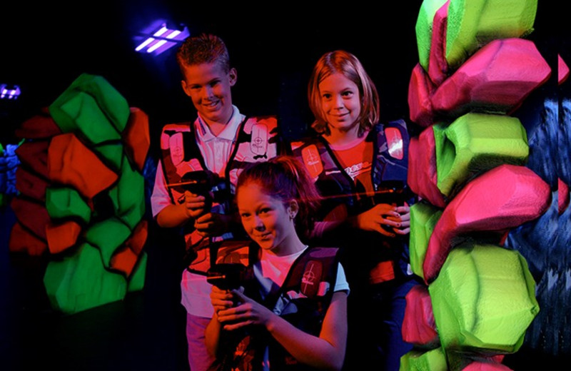 Lazer tag at Kalahari Waterpark Resort Convention Center.