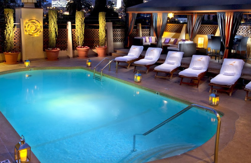Outdoor pool at Le Parc Suite Hotel.
