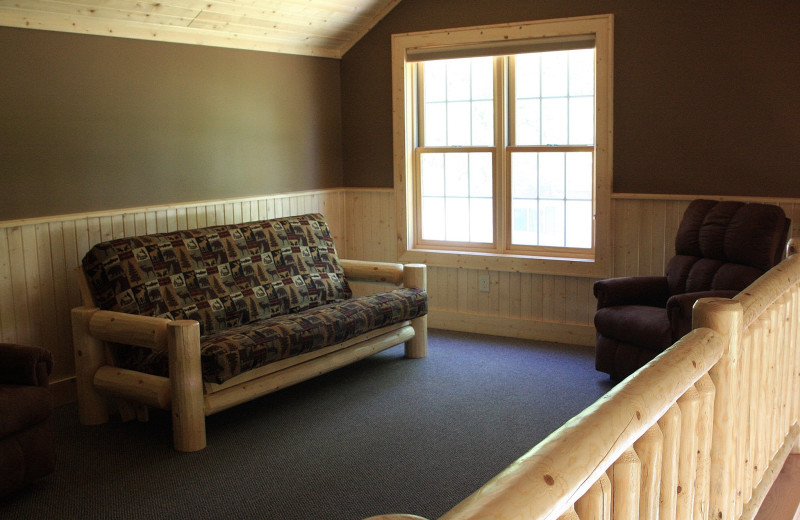 Cottage loft at Cedar Valley Resort.