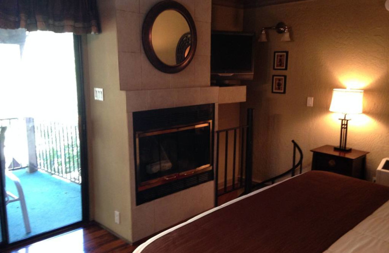 Fireplace room at Old Creek Resort.
