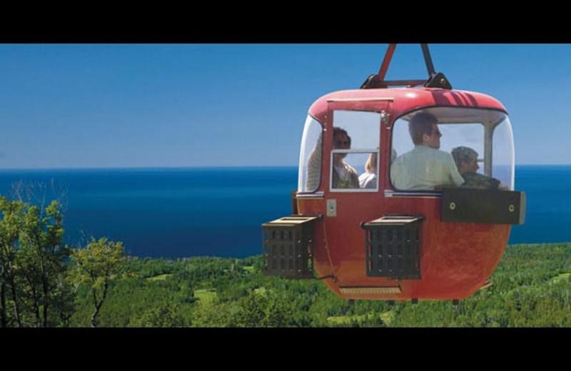 Gondola ride at The Mountain Inn at Lutsen.