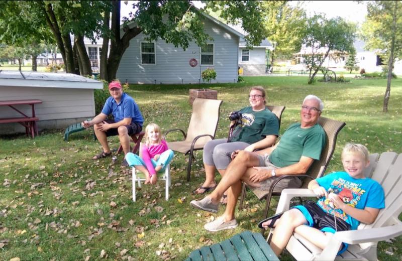 Family at Oak Park Resort.