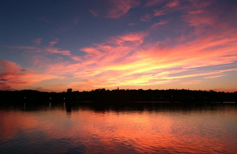 Sunset at Sheepscot Harbour Village