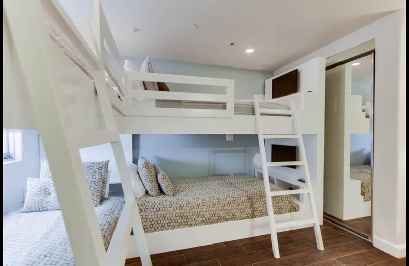 Rental bunk beds at Surf Style Vacation Homes.