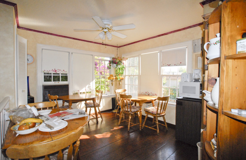Dining room at Madison Street Bed & Breakfast.