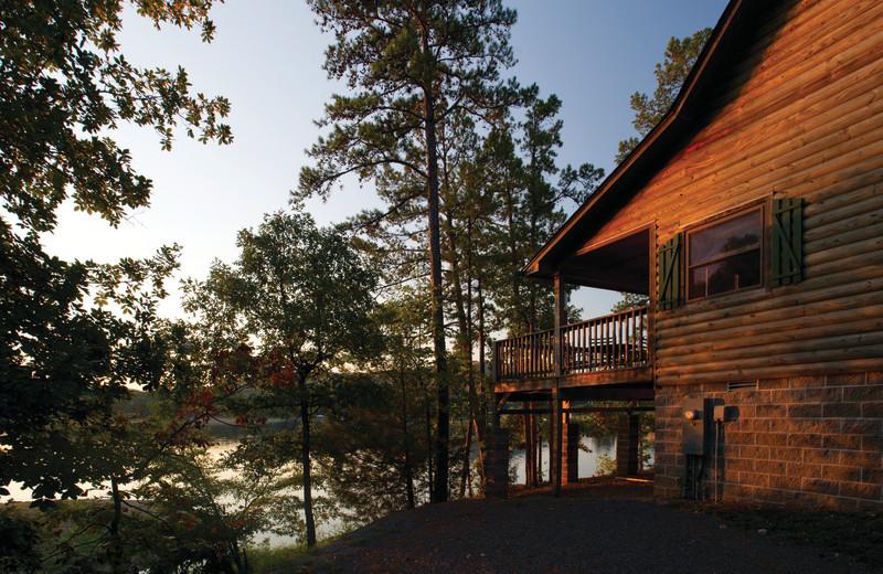 Cabin exterior at Mountain Harbor Resort.