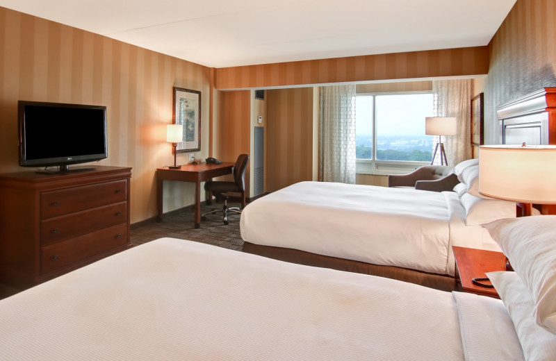 Guest room at DoubleTree Fallsview Resort & Spa by Hilton - Niagara Falls.