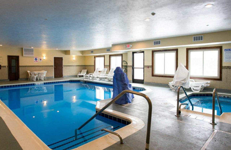 Indoor pool at Comfort Suites Benton Harbor.
