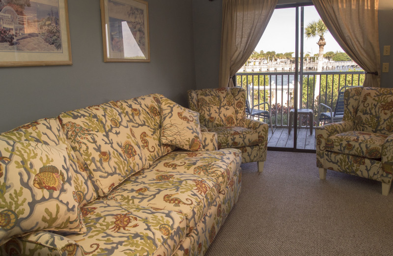 Guest living room at Englewood Beach & Yacht Club.