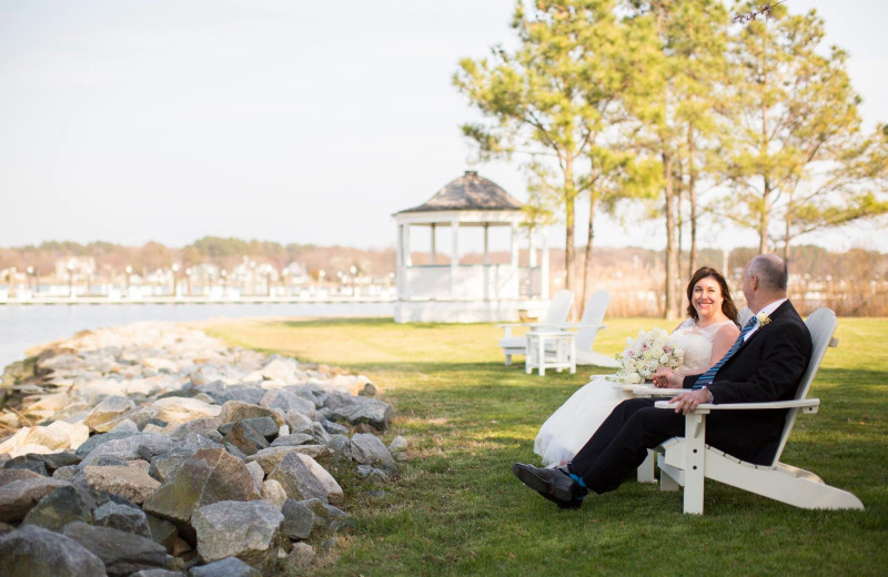 Wedding couple at Osprey Point.
