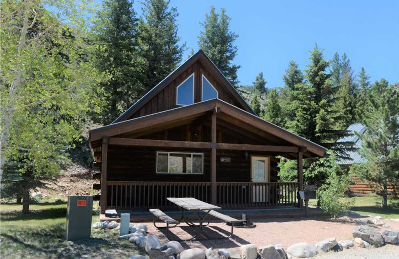 Cabin exterior at Three Rivers Resort & Outfitting.