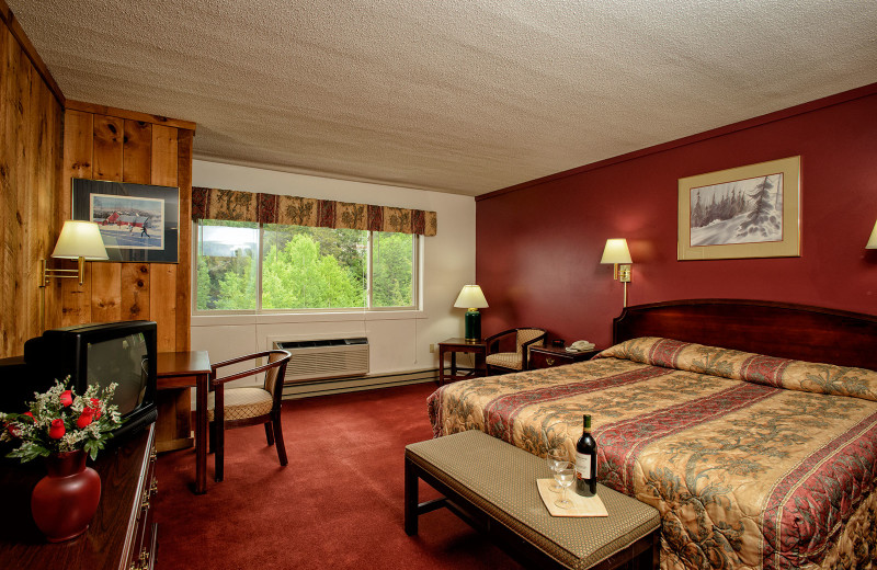 Guest room at Snowy Owl Inn and Resort.