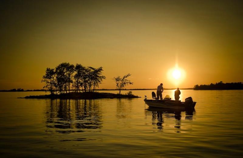 Fishing at Snyder's Idlewild Resort.