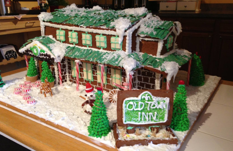 Ginger bread house at Old Town Inn.