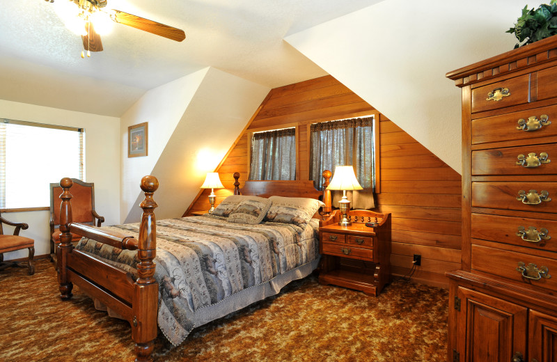 Guest room at Pinewoods Resort.